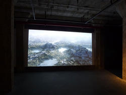 Montagnes-455 secondes, Laurent Pernot, vidéo couleurs 2009